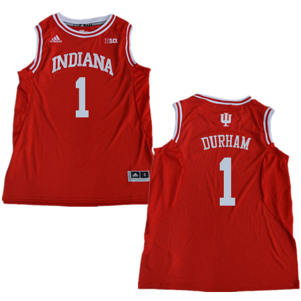 Men #1 Aljami Durham Indiana Hoosiers College Basketball Jerseys Sale-Red