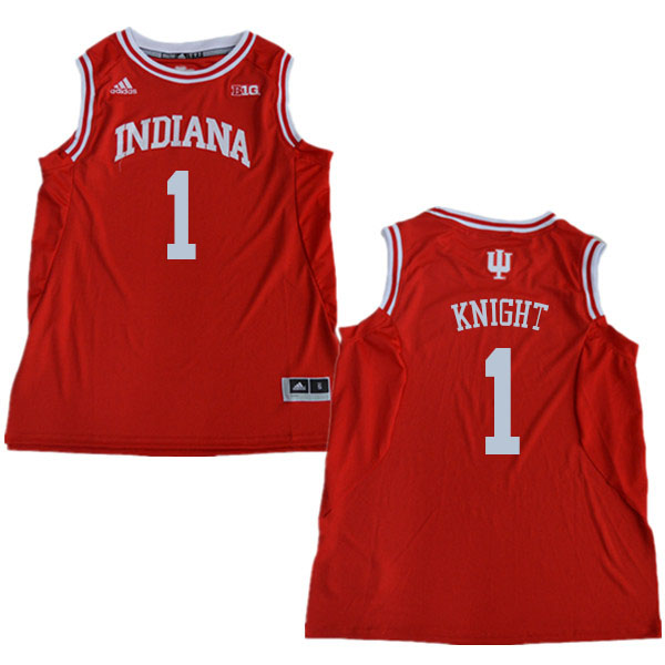 Men #1 Bob Knight Indiana Hoosiers College Basketball Jerseys Sale-Red