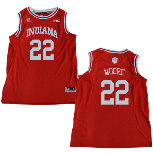 Men #22 Clifton Moore Indiana Hoosiers College Basketball Jerseys Sale-Red
