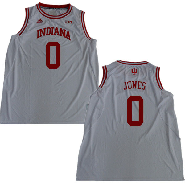 Men #0 Curtis Jones Indiana Hoosiers College Basketball Jerseys Sale-White