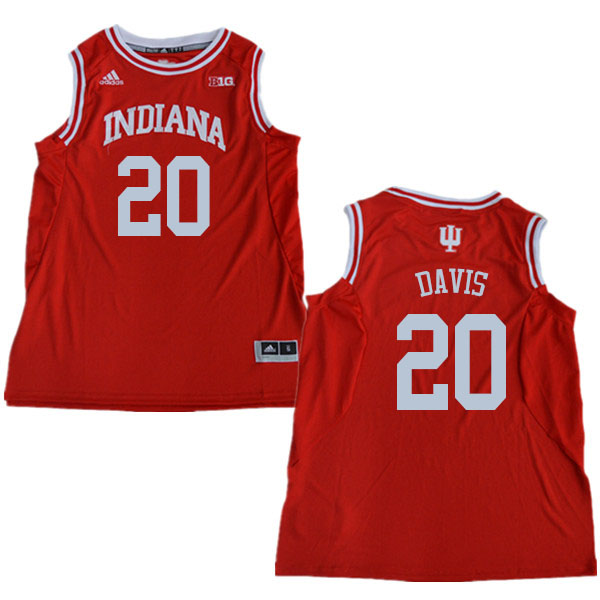 Men #20 De'Ron Davis Indiana Hoosiers College Basketball Jerseys Sale-Red