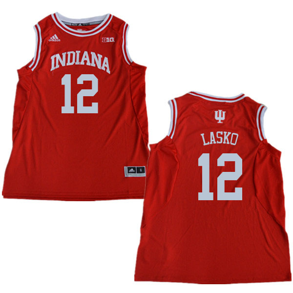 Men #12 Ethan Lasko Indiana Hoosiers College Basketball Jerseys Sale-Red