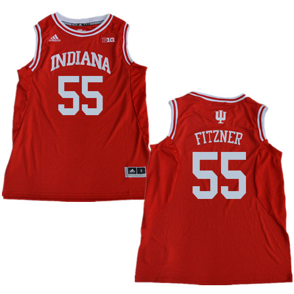 Men #55 Evan Fitzner Indiana Hoosiers College Basketball Jerseys Sale-Red