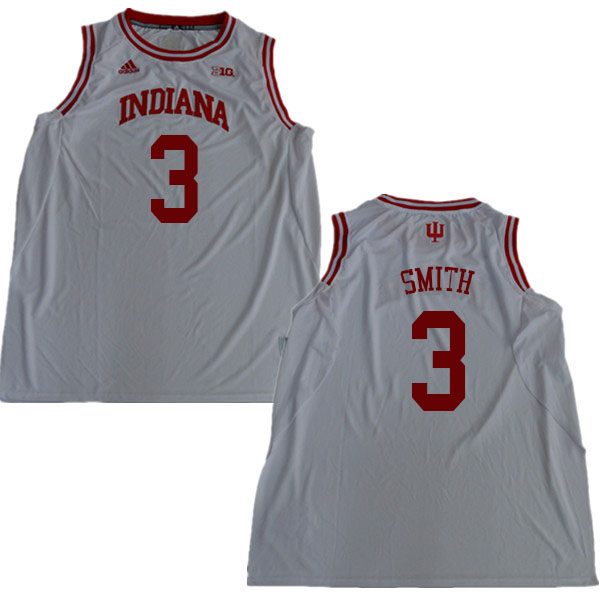 Men #3 Justin Smith Indiana Hoosiers College Basketball Jerseys Sale-White