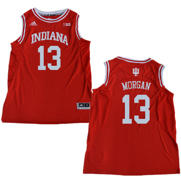 Men #13 Juwan Morgan Indiana Hoosiers College Basketball Jerseys Sale-Red