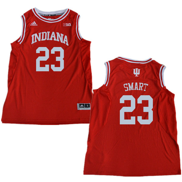 Men #23 Keith Smart Indiana Hoosiers College Basketball Jerseys Sale-Red