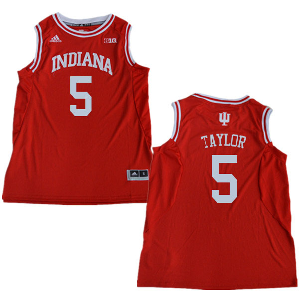Men #5 Quentin Taylor Indiana Hoosiers College Basketball Jerseys Sale-Red