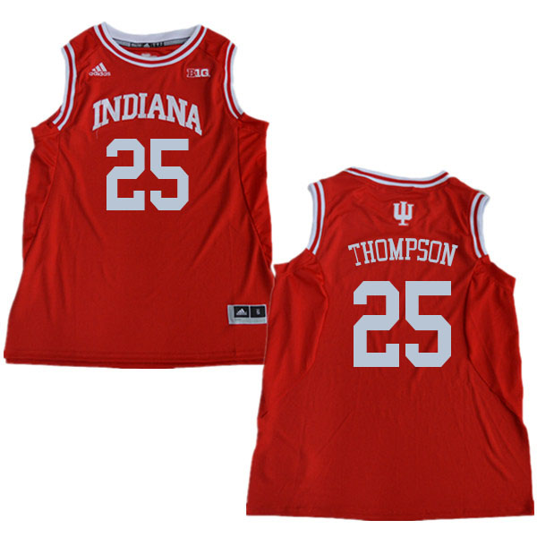 Men #25 Race Thompson Indiana Hoosiers College Basketball Jerseys Sale-Red