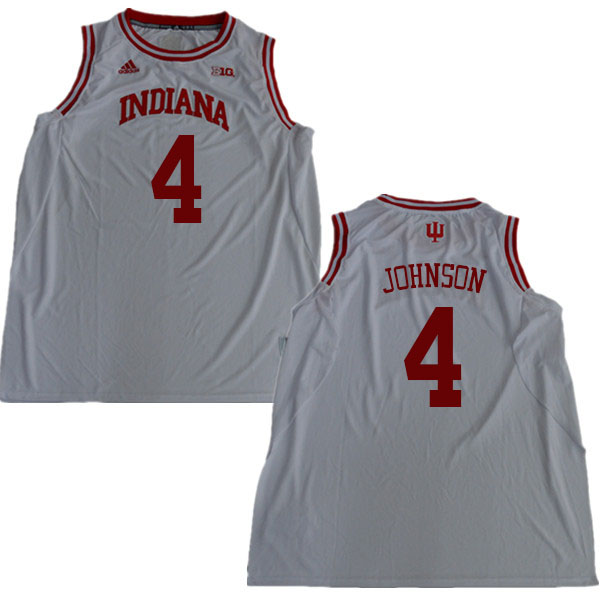 Men #4 Robert Johnson Indiana Hoosiers College Basketball Jerseys Sale-White