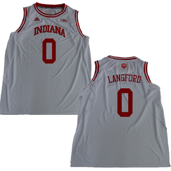 Men #0 Romeo Langford Indiana Hoosiers College Basketball Jerseys Sale-White