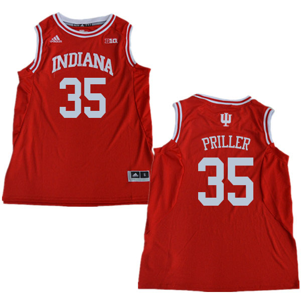 Men #35 Tim Priller Indiana Hoosiers College Basketball Jerseys Sale-Red