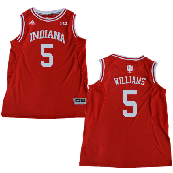 Men #5 Troy Williams Indiana Hoosiers College Basketball Jerseys Sale-Red