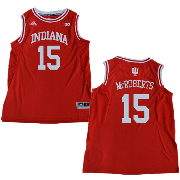 Men #15 Zach McRoberts Indiana Hoosiers College Basketball Jerseys Sale-Red
