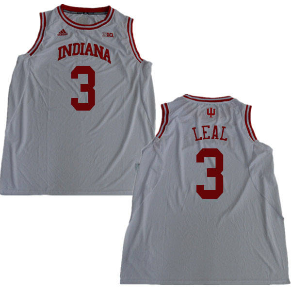 Men #3 Anthony Leal Indiana Hoosiers College Basketball Jerseys Sale-White