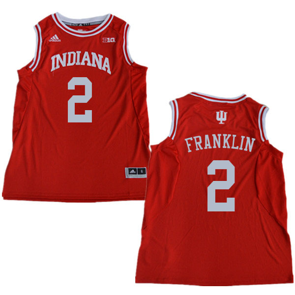 Men #2 Armaan Franklin Indiana Hoosiers College Basketball Jerseys Sale-Red