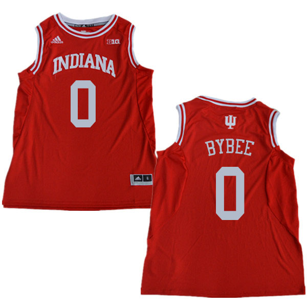 Men #0 Cooper Bybee Indiana Hoosiers College Basketball Jerseys Sale-Red