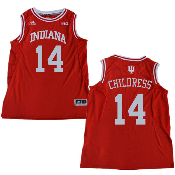 Men #14 Nathan Childress Indiana Hoosiers College Basketball Jerseys Sale-Red