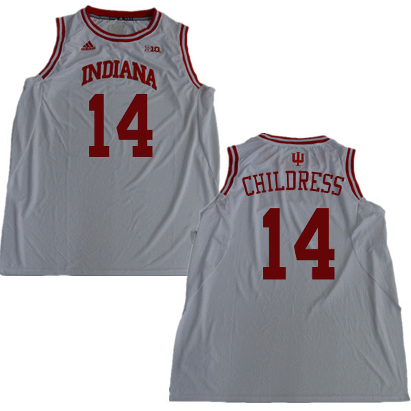 Men #14 Nathan Childress Indiana Hoosiers College Basketball Jerseys Sale-White