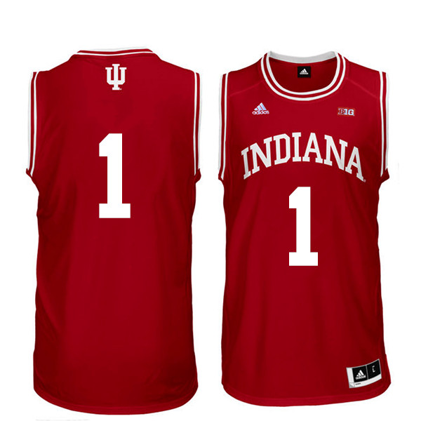 Men Indiana Hoosiers #1 Aljami Durham College Basketball Jerseys Sale-Red