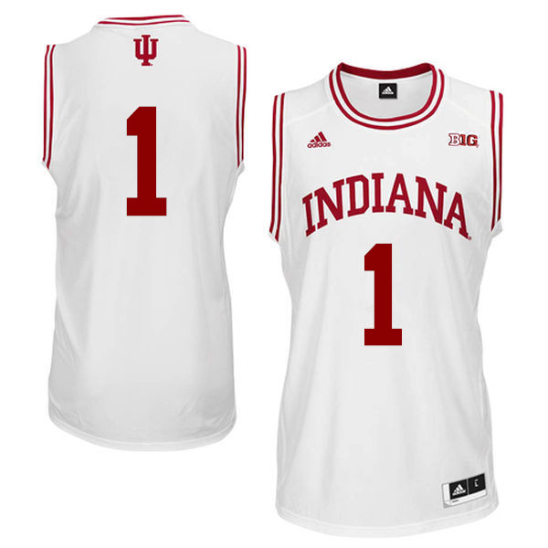 Men Indiana Hoosiers #1 Aljami Durham College Basketball Jerseys Sale-White