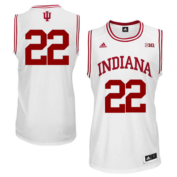 Men Indiana Hoosiers #22 Clifton Moore College Basketball Jerseys Sale-White
