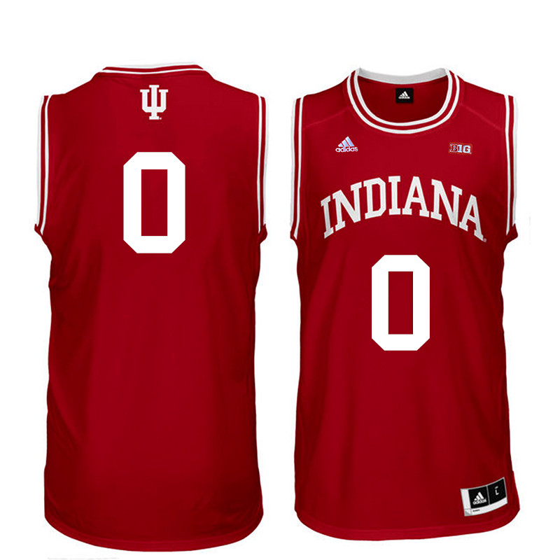 Men Indiana Hoosiers #0 Curtis Jones College Basketball Jerseys Sale-Red