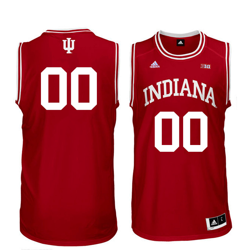 Customs Men Indiana Hoosiers College Basketball Jerseys Sale-Red