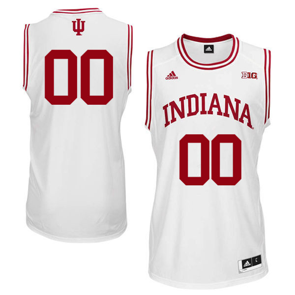 Customs Men Indiana Hoosiers College Basketball Jerseys Sale-White