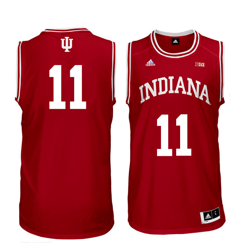 Men Indiana Hoosiers #11 Devonte Green College Basketball Jerseys Sale-Red