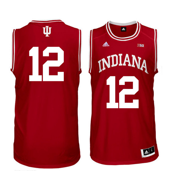Men Indiana Hoosiers #12 Ethan Lasko College Basketball Jerseys Sale-Red