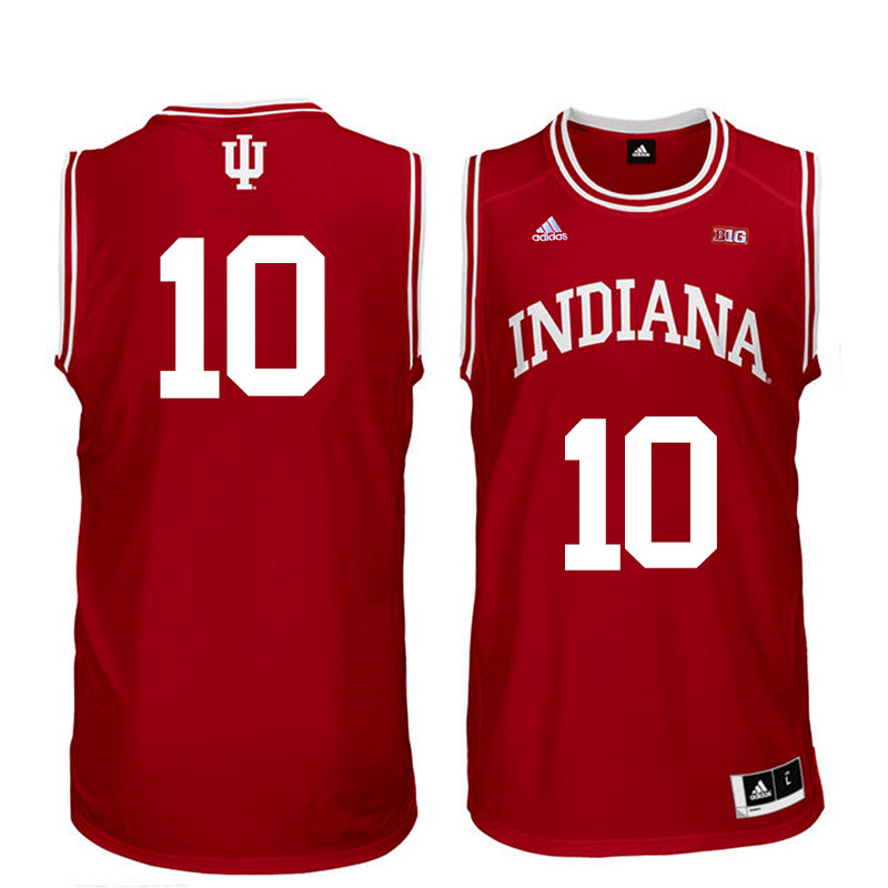 Men Indiana Hoosiers #10 Johnny Jager College Basketball Jerseys Sale-Red