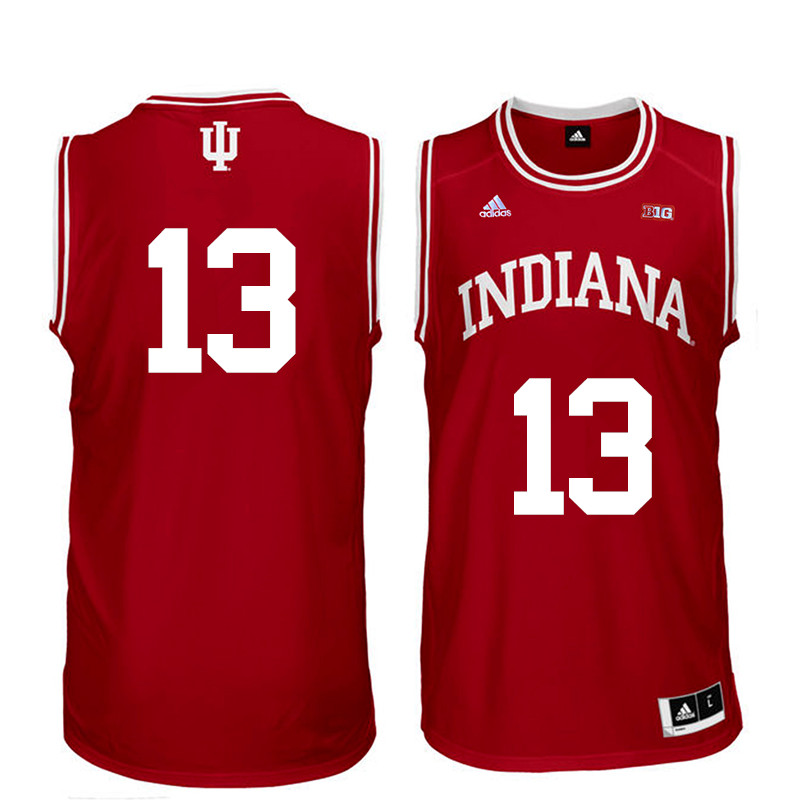 Men Indiana Hoosiers #13 Juwan Morgan College Basketball Jerseys Sale-Red
