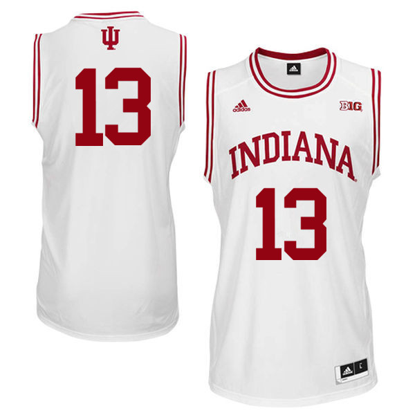 Men Indiana Hoosiers #13 Juwan Morgan College Basketball Jerseys Sale-White