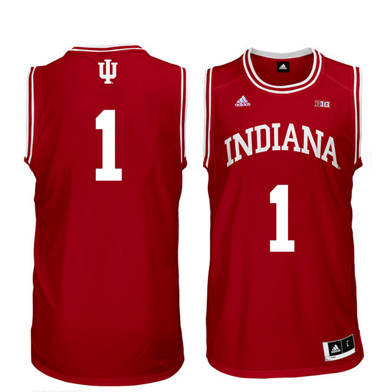 Men Indiana Hoosiers #1 Noah Vonle College Basketball Jerseys Sale-Red