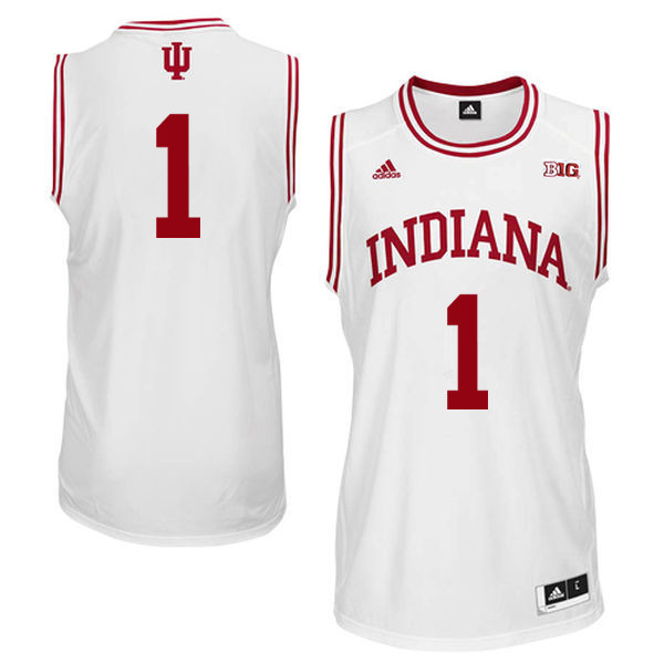 Men Indiana Hoosiers #1 Noah Vonle College Basketball Jerseys Sale-White