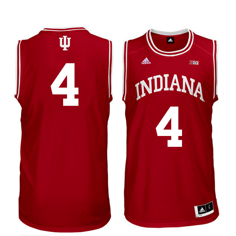 Men Indiana Hoosiers #4 Robert Johnson College Basketball Jerseys Sale-Red
