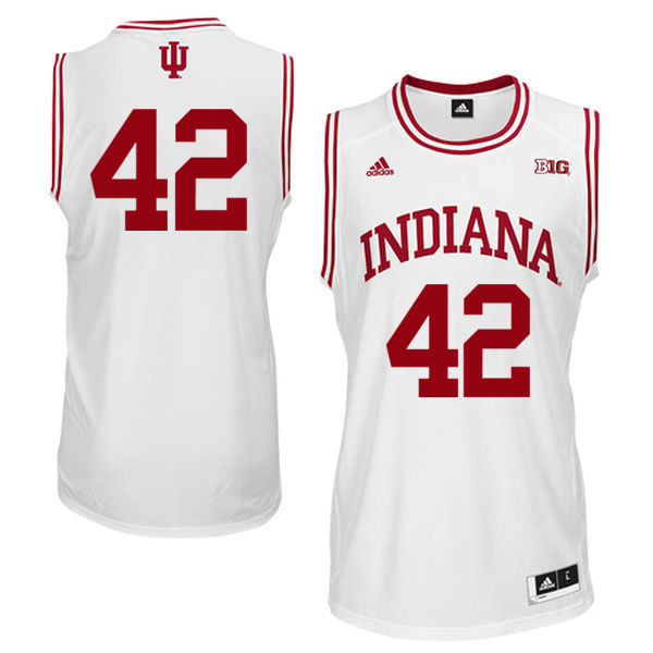 Men Indiana Hoosiers #42 Scott May College Basketball Jerseys Sale-White