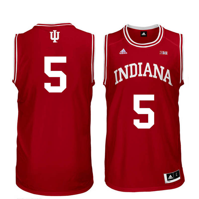 Men Indiana Hoosiers #5 Troy Williams College Basketball Jerseys Sale-Red