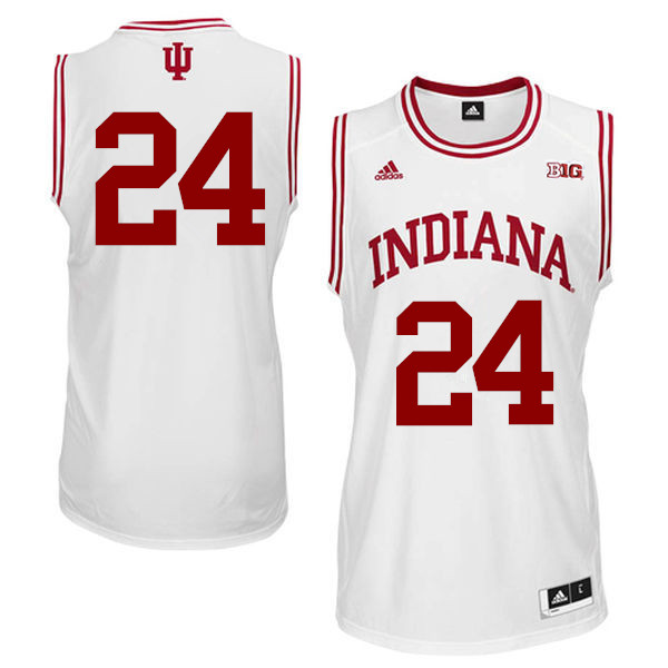 Men Indiana Hoosiers #24 Vijay Blackmon College Basketball Jerseys Sale-White