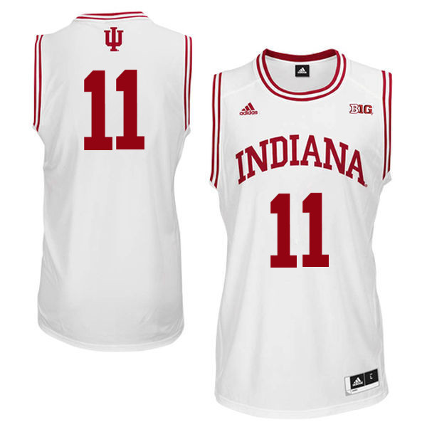 Men Indiana Hoosiers #11 Yogi Ferrell College Basketball Jerseys Sale-White - Click Image to Close