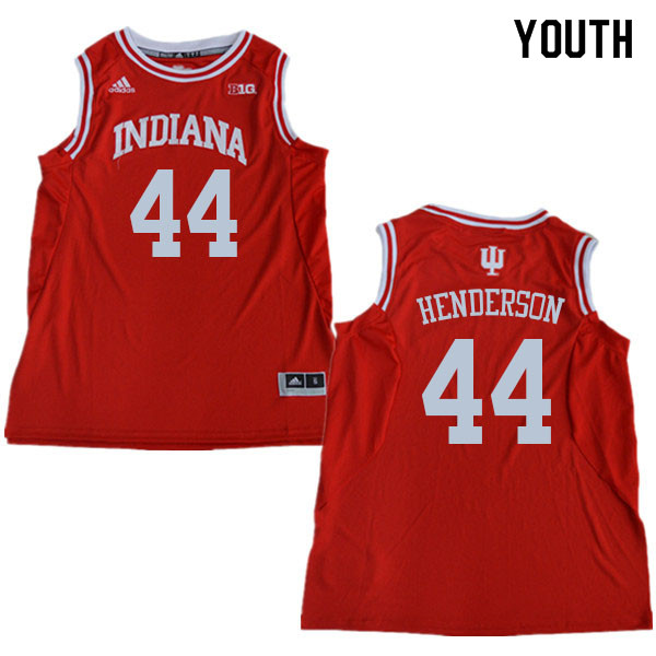 Youth #44 Alan Henderson Indiana Hoosiers College Basketball Jerseys Sale-Red