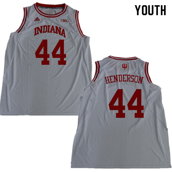 Youth #44 Alan Henderson Indiana Hoosiers College Basketball Jerseys Sale-White