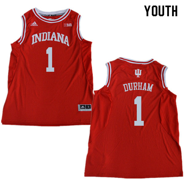 Youth #1 Aljami Durham Indiana Hoosiers College Basketball Jerseys Sale-Red