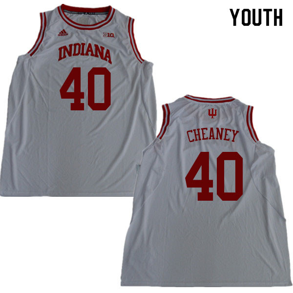 Youth #40 Calbert Cheaney Indiana Hoosiers College Basketball Jerseys Sale-White