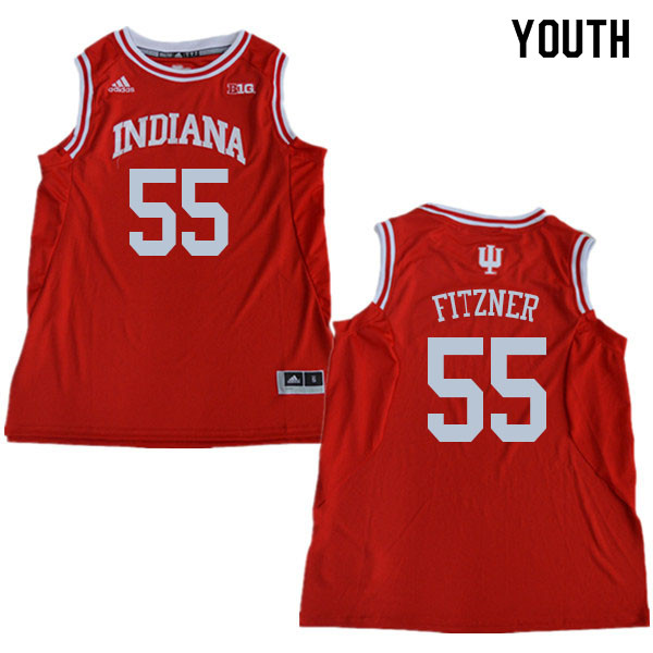 Youth #55 Evan Fitzner Indiana Hoosiers College Basketball Jerseys Sale-Red