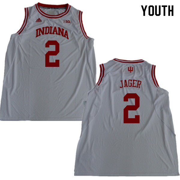 Youth #2 Johnny Jager Indiana Hoosiers College Basketball Jerseys Sale-White