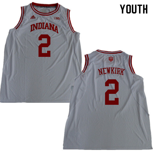 Youth #2 Josh Newkirk Indiana Hoosiers College Basketball Jerseys Sale-White