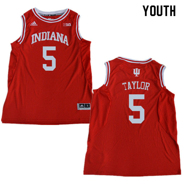 Youth #5 Quentin Taylor Indiana Hoosiers College Basketball Jerseys Sale-Red