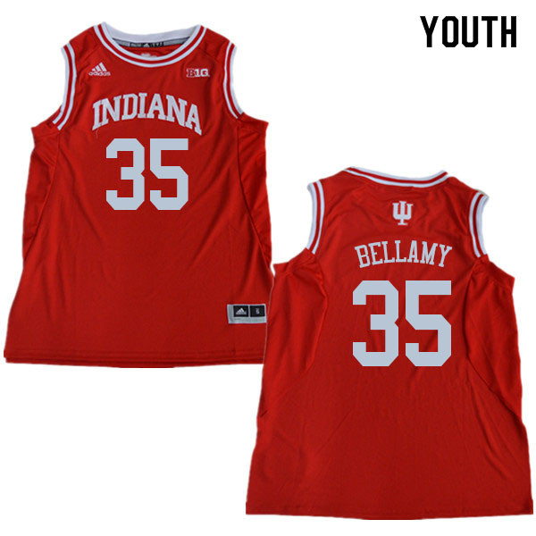 Youth #35 Walt Bellamy Indiana Hoosiers College Basketball Jerseys Sale-Red