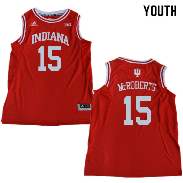 Youth #15 Zach McRoberts Indiana Hoosiers College Basketball Jerseys Sale-Red